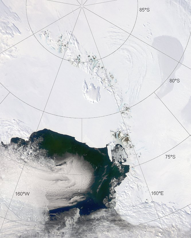 South Pole and the Ross Sea