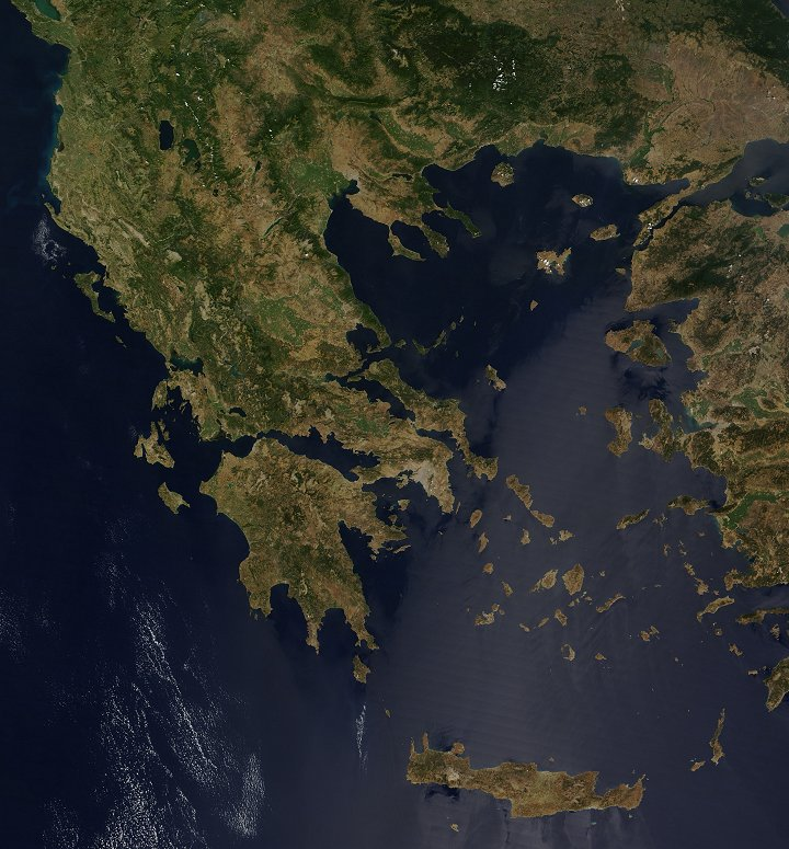 Greece from Space