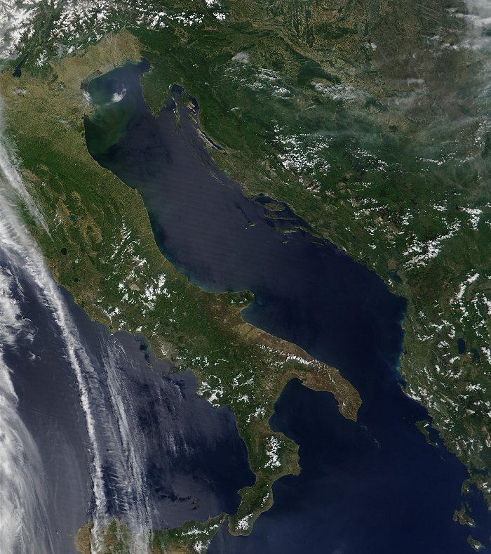 Italy and Adriatic Sea