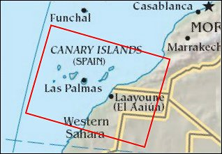 Map: Canary Islands