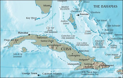 Jolie Blogs Map Of Cuba And Us - Us and cuba map