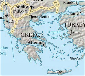 Map: Greece from Space