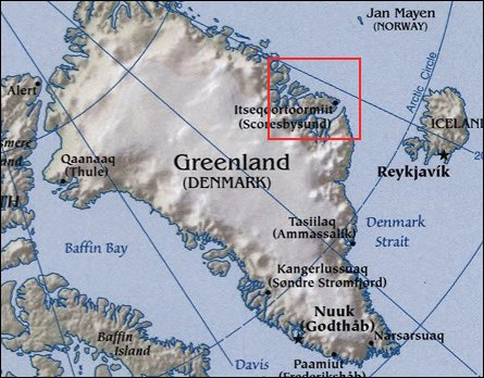 Map: Greenland Coast