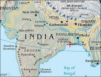 Map hugli river