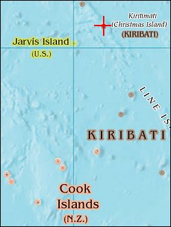 Map: Kiritimati (Christmas Island)