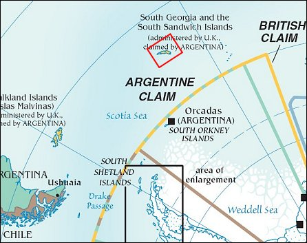 Map: South Georgia Island