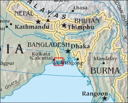BEAUTIFUL BANGLADESH One Topic Covered In One Post Per Day - Where is bangladesh located