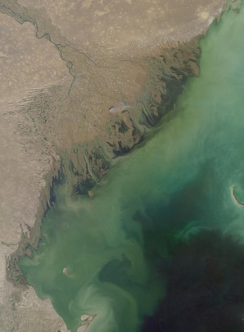 Volga Delta and the Caspian Sea